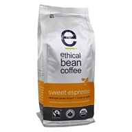 Ethical Bean Coffee - Organic Medium Dark Roast Whole Bean Sweet Espresso - 12 oz. (841631826030)