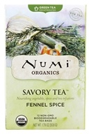 Numi Organic - Green Savory Tea Fennel Spice - 12 Tea Bags (680692160062)