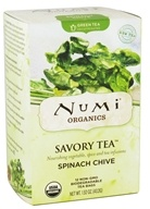 Image of Numi Organic - Green Savory Tea Spinach Chive - 12 Tea Bags