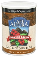 Image of Cafe Altura - Organic Coffee Fair Trade Dark Blend - 12 oz.