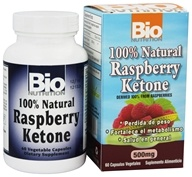 Image of Bio Nutrition - 100% Natural Raspberry Ketone 500 mg. - 60 Vegetarian Capsules