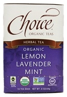 Choice Organic Teas - Lemon Lavender Mint Tea - 16 Tea Bags - $3.29