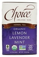 Choice Organic Teas - Lemon Lavender Mint Tea - 16 Tea Bags