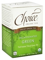 Choice Organic Teas - Decaffeinated Green Tea - 16 Tea Bags - $3.29