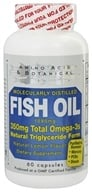 Amino Acid & Botanical - Omega-3 Fish Oil Lemon - 60 Capsules by Amino Acid & Botanical