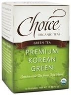 Choice Organic Teas - Premium Korean Green Tea - 16 Tea Bags (047445919559)