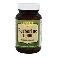 Only Natural - Berberine Immune Support 1000 mg. - 50 Vegetarian Capsules - $14.05