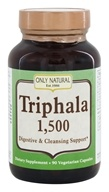 Only Natural - Triphala Digestive & Cleansing Support 1500 mg. - 90 Vegetarian Capsules by Only Natural