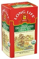 Long Life Teas - Organic Green Tea Decaffeinated - 18 Tea Bags by Long Life Teas