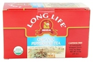Long Life Teas - Organic Peppermint Tea - 18 Tea Bags (713757555401)
