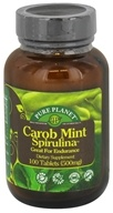 Pure Planet - Carob Mint Spirulina Endurance Support 500 mg. - 100 Tablet(s)