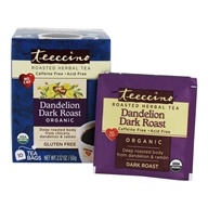 Teeccino - Chicory Herbal Tea Dark Roast Dandelion - 10 Tea Bags