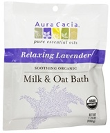 Image of Aura Cacia - Soothing Organic Milk & Oat Bath Relaxing Lavender - 1.75 oz.