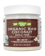 Nature's Way - Organic Pure & Unrefined Raw Whole Food Coconut - 16 oz. Lucky Price (033674100110)