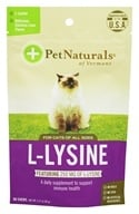 Image of Pet Naturals of Vermont - L-Lysine Fun-Shaped Chews Chicken Liver Flavored - 60 Chew(s)