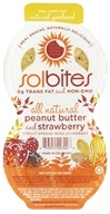 SolBites - All Natural Fruit Spread with Crackers Peanut Butter & Strawberry - 2 oz. by SolBites