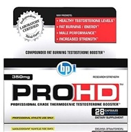 BPI Sports - PRO-HD Professional Grade Thermogenic Testosterone Booster - 28 Capsules (851780006283)
