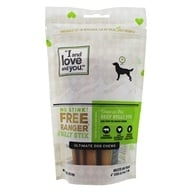 "I And Love And You - No Stink Free Ranger Bully Stix Dog Chews 6"" - 5 Pack - $20.49"