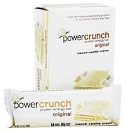 BioNutritional Research Group - Power Crunch Protein Energy Bar Vanilla Creme - 5 Bars (644225730016)