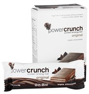 Image of BioNutritional Research Group - Power Crunch Protein Energy Bar Triple Chocolate - 5 Bars