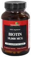 Futurebiotics - 100% Vegetarian Biotin 10000 mcg. - 90 Vegetarian Capsules, from category: Vitamins & Minerals