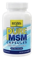 Natural Balance - Pure MSM with Glucosamine 500 mg. - 120 Capsules (Formerly Trimedica) (047868002371)