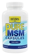 Image of Natural Balance - Pure MSM 500 mg. - 250 Capsules (Formerly Trimedica)