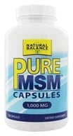 Image of Natural Balance - Pure MSM 1000 mg. - 120 Capsules (Formerly Trimedica)