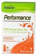Salada - Tea Therapy Performance Energy Green Tea Enhanced Hydration Drink Peach-Nectarine - 10 Stick(s) by Salada