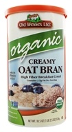 Old Wessex Ltd. - Creamy Oat Bran Cereal Organic - 18.5 oz.