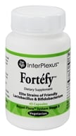 InterPlexus - Fortefy Strains of Friendly Lactobacillus & Bifidobacterium - 45 Vegetarian Capsules (0766897258534)