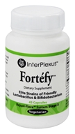InterPlexus - Fortefy Strains of Friendly Lactobacillus & Bifidobacterium - 45 Vegetarian Capsules