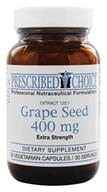 Prescribed Choice - Extra Strength Grape Seed 120:1 Extract 400 mg. - 30 Vegetarian Capsules - $28.01
