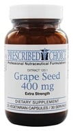 Prescribed Choice - Extra Strength Grape Seed 120:1 Extract 400 mg. - 30 Vegetarian Capsules