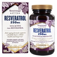 Reserveage Nutrition - Resveratrol 250 mg. - 120 Vegetarian Capsules