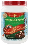 Image of Amazing Grass - Amazing Meal Powder Holiday Blend 15 Servings Chocolate Peppermint - 13.7 oz.