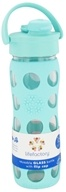 Lifefactory - Glass Beverage Bottle With Silicone Sleeve and Flip Top Cap Turquoise - 16 oz.
