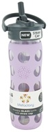 Image of Lifefactory - Glass Beverage Bottle With Silicone Sleeve and Straw Cap Lilac - 16 oz.