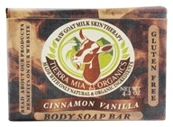 Image of Tierra Mia Organics - Raw Goat Milk Skin Therapy Body Soap Bar Cinnamon Vanilla - 2 oz.