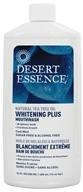 Image of Desert Essence - Natural Tea Tree Oil Whitening Plus Mouthwash Cool Mint - 16 oz.