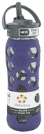 Lifefactory - Glass Beverage Bottle With Silicone Sleeve and Straw Cap Royal Purple - 22 oz. by Lifefactory