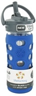Lifefactory - Glass Beverage Bottle With Silicone Sleeve and Straw Cap Cobalt - 12 oz. ...