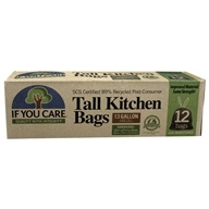 Image of If You Care - 97% Post Consumer Recycled Tall Kitchen Bags with Handles - 12 Bags