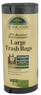 If You Care - 97% Post Consumer Recycled Large Trash Bags with Handles - 10 Bags