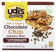 Image of Udi's - Gluten Free Soft n' Chewy Granola Bars Chocolate Chip - 5 Bars