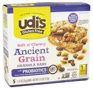 Udi's - Gluten Free Soft n' Chewy Granola Bars Ancient Grain - 5 Bars