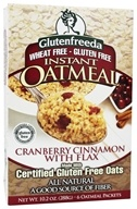 Glutenfreeda - Instant Oatmeal with Flax 6 Packets Cranberry Cinnamon  - 10.1 oz.