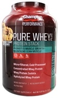 Champion Nutrition - Pure Whey Protein Stack Chocolate Peanut Butter Cookie - 4.8 lbs. - $59.99