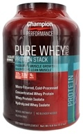 Champion Nutrition - Pure Whey Protein Stack Chocolate Brownie - 4.8 lbs., from category: Sports Nutrition