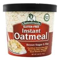 Glutenfreeda - Instant Oatmeal Cup Brown Sugar & Flax - 2.64 oz., from category: Health Foods